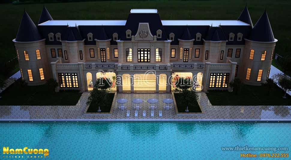 thiết kế nhà 2 tầng nghỉ dưỡng kiểu châu âu