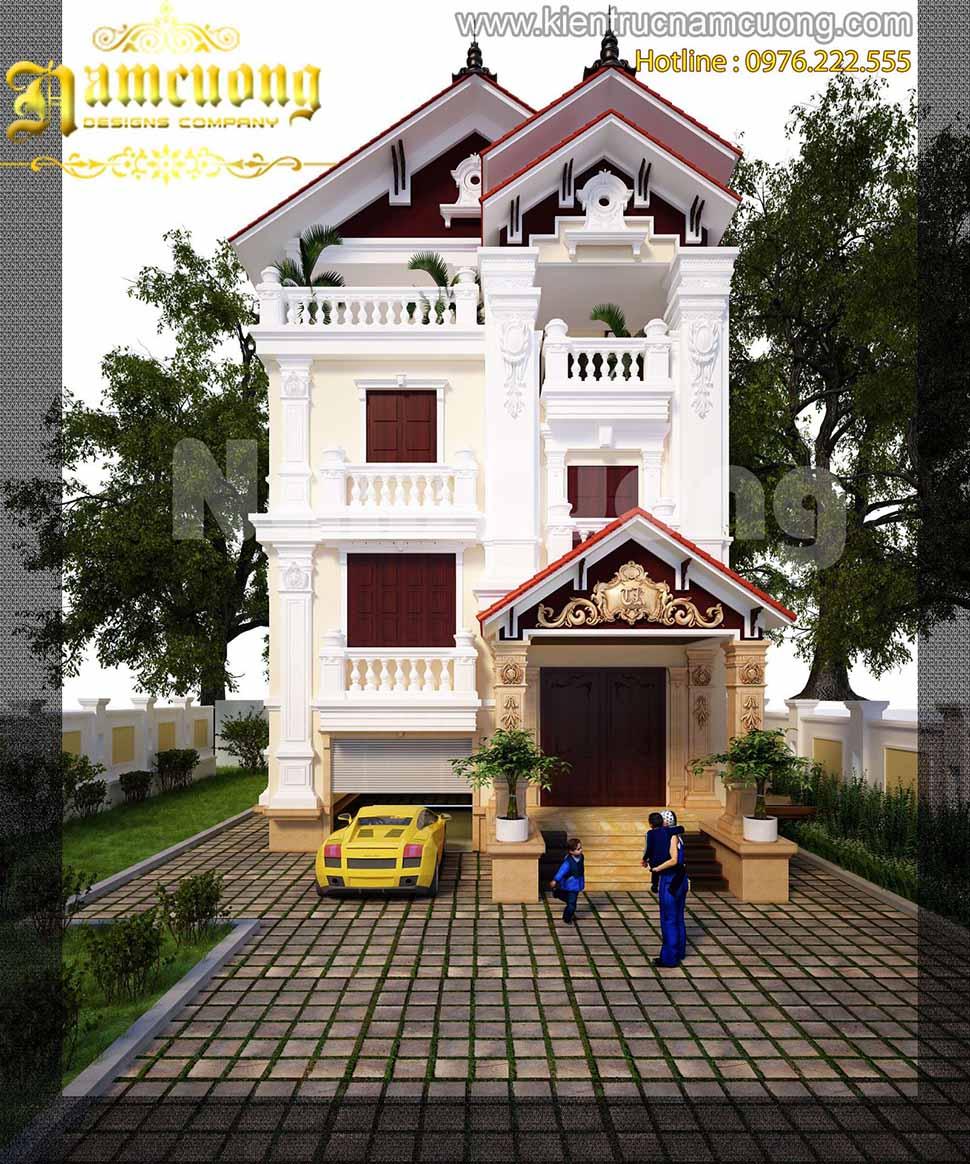 thiết kế nhà 3 tầng 1 tum chất lượng