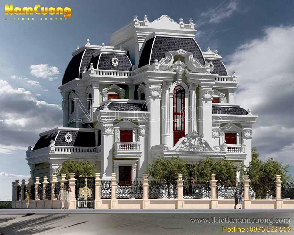 thiết kế nhà 3 tầng tại hòa bình