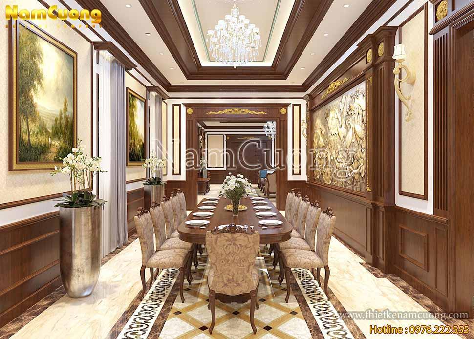 phòng ăn biệt thự 3 tầng