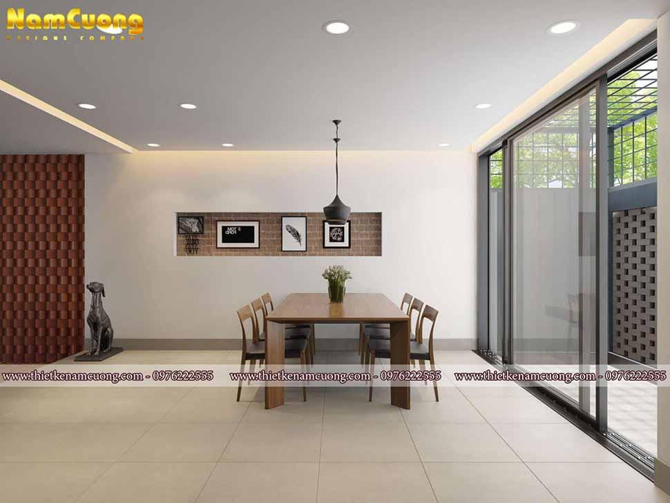 phòng bếp cho biệt thự hiện đại mái thái