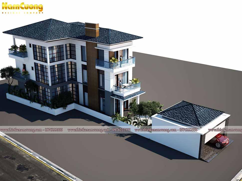 kiến trúc biệt thự 3 tầng hiện đại