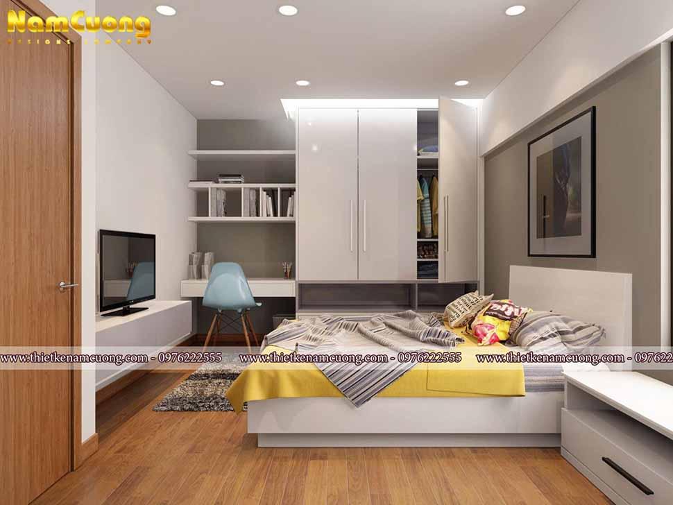 phòng ngủ hiện đại biệt thự mái thái