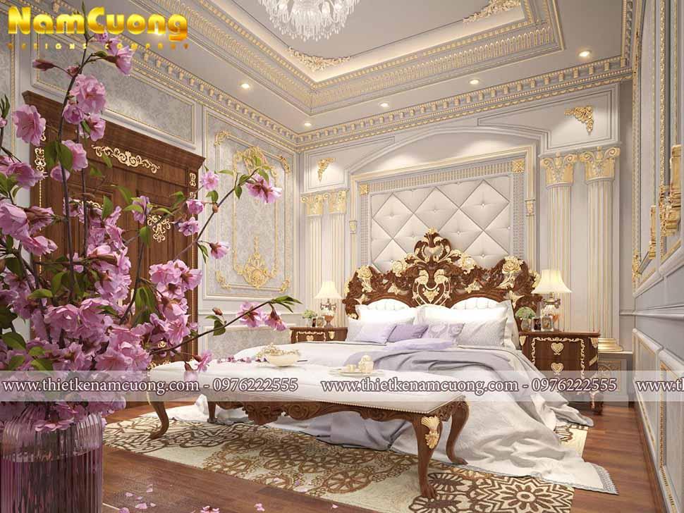 phòng ngủ biệt thự lâu đài
