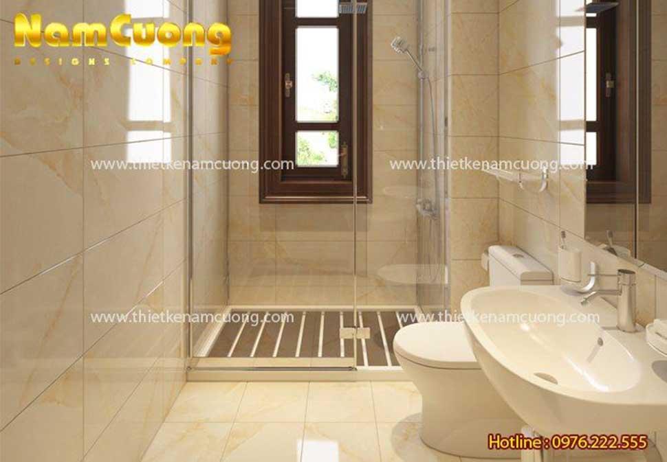 nội thất phòng tắm nhà vườn 3 tầng