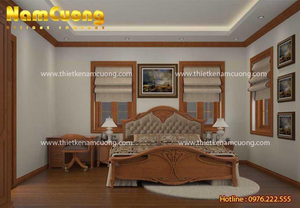 phòng ngủ trong ngôi biệt thự