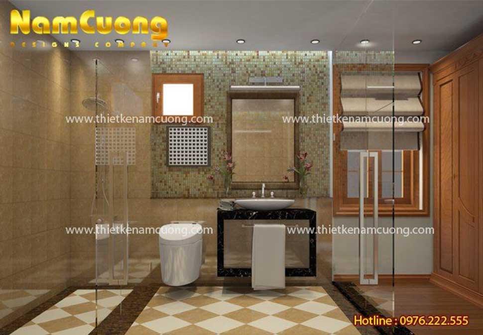 phòng tắm trong phòng ngủ