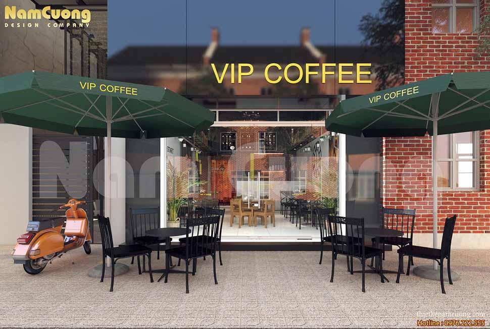 Thiết kế quán cafe hợp lý về ánh sáng