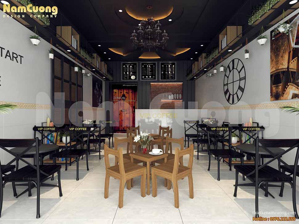 Nguyên tắc 1 trong cách thiết kế 1 quán cafe: Thiết kế quán cafe theo phong cách đơn giản