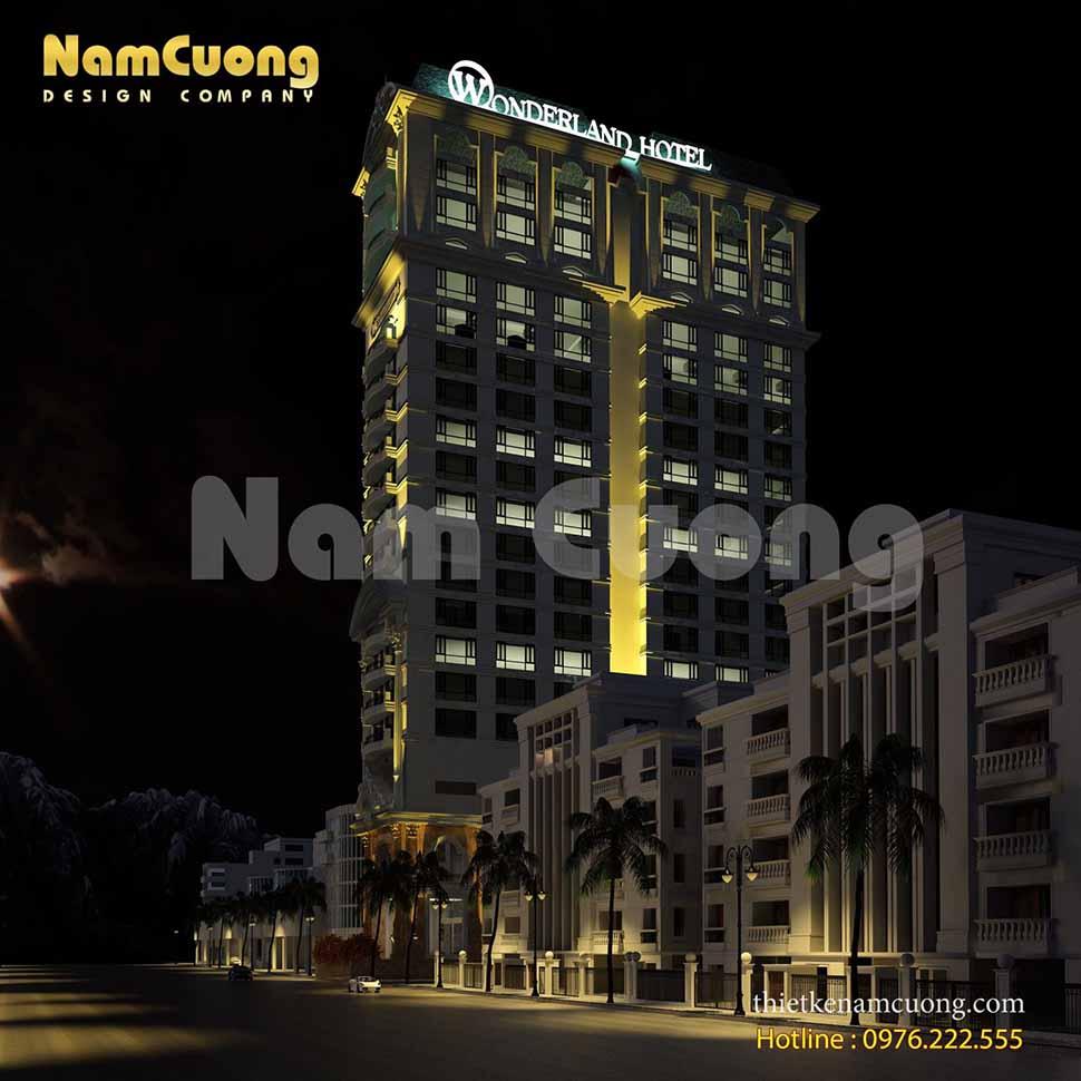 khách sạn lung linh về đêm