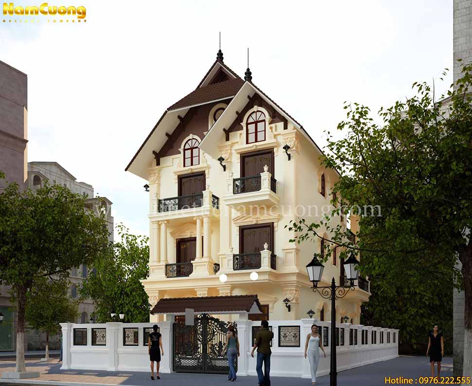 kiến trúc nhà 3 tầng đẹp