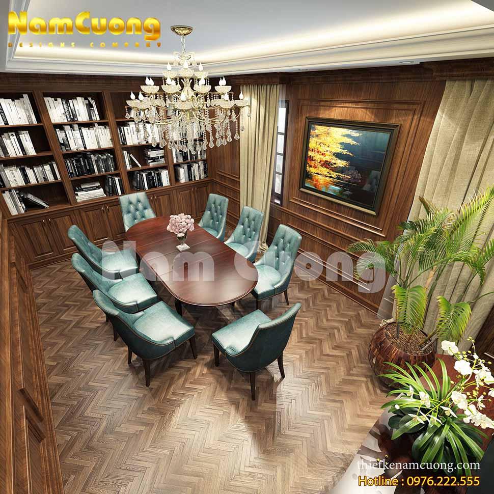 thiết kế nội thất phòng đọc sách