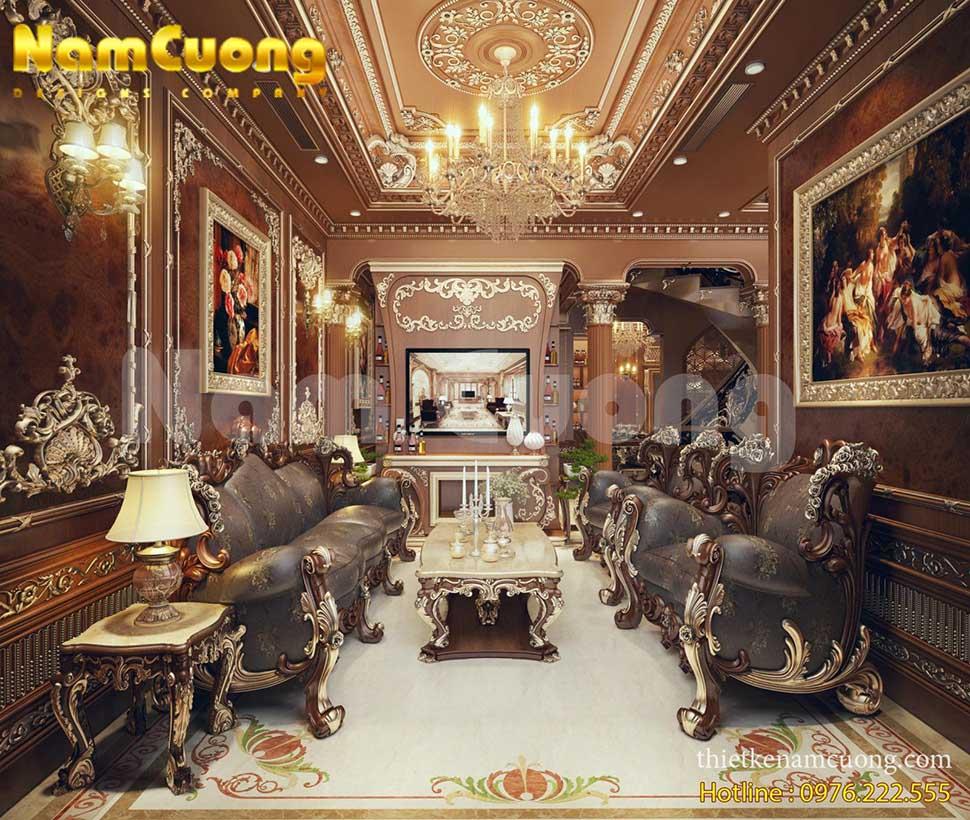 phòng khách cổ điển đẹp