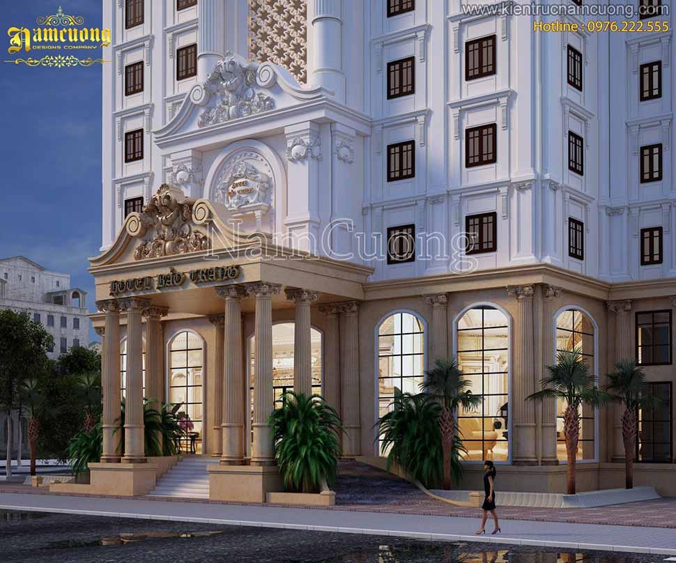 kiến trúc khách sạn 3 sao tại quảng ninh