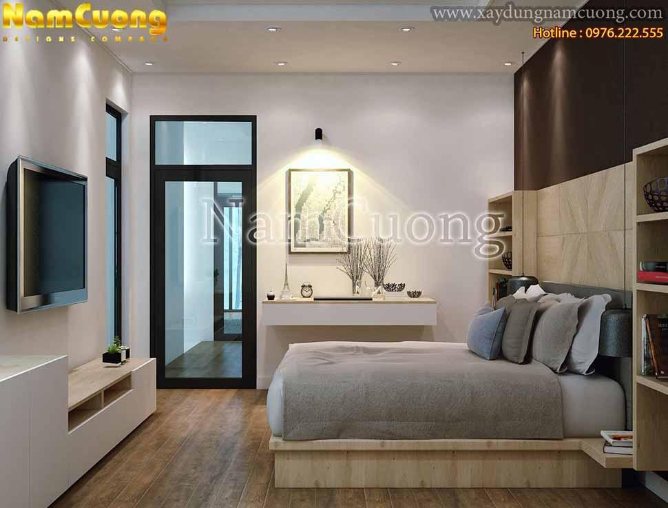 thiết kế phòng ngủ nhà phố 8x15m
