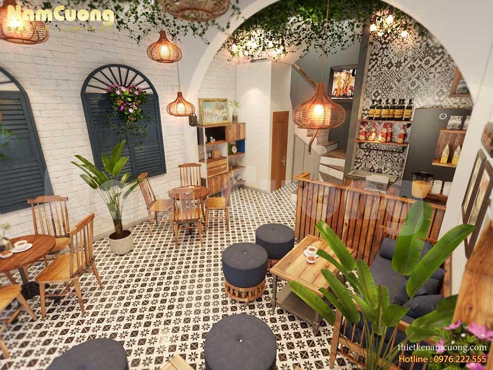 không gian cafe tầng 1