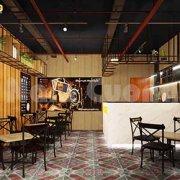 thiết kế quán cafe 20m2