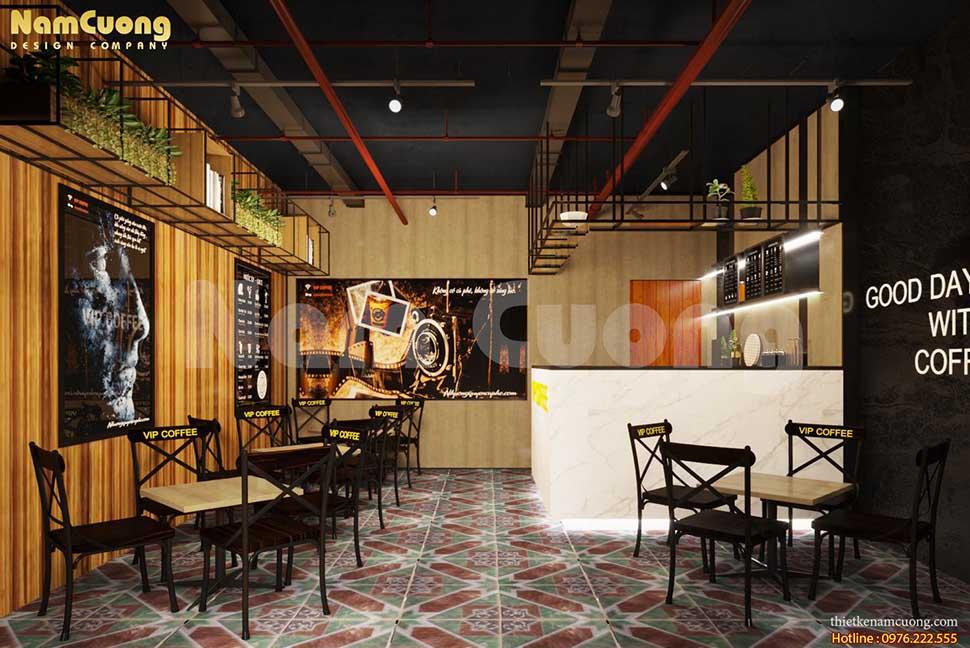 không gian nội thất quán cafe