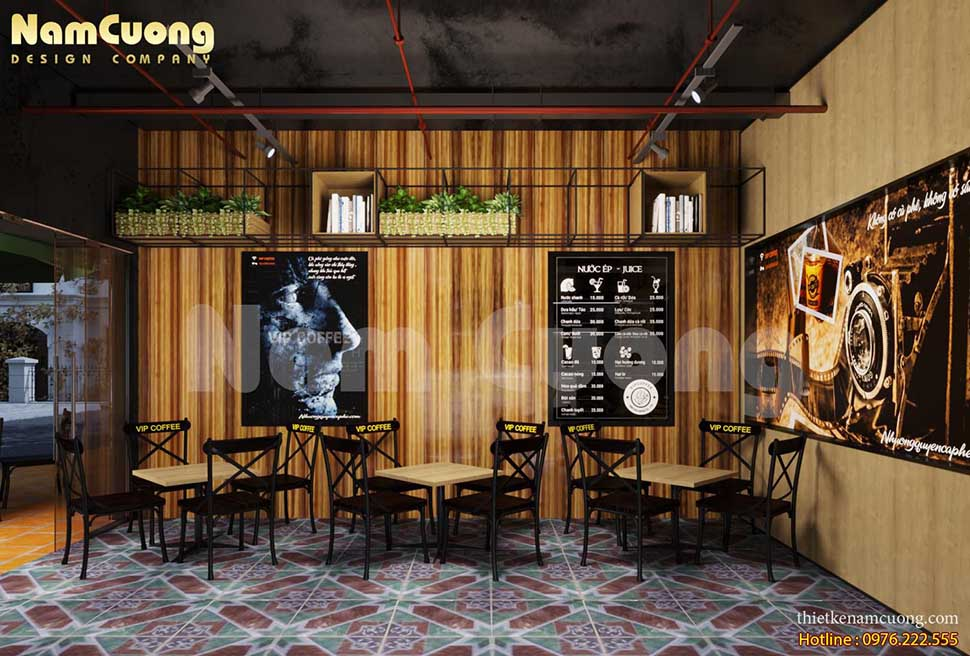 Góc view đẹp của thiết kế quán cafe 20m2