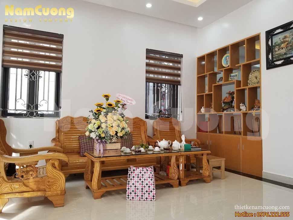phòng khách biệt thự tân cổ điển thi công trọn gói tại Hải Phòng