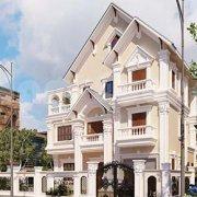Mẫu thiết kế kiến trúc biệt thự 3 tầng mặt tiền 8m siêu đẹp