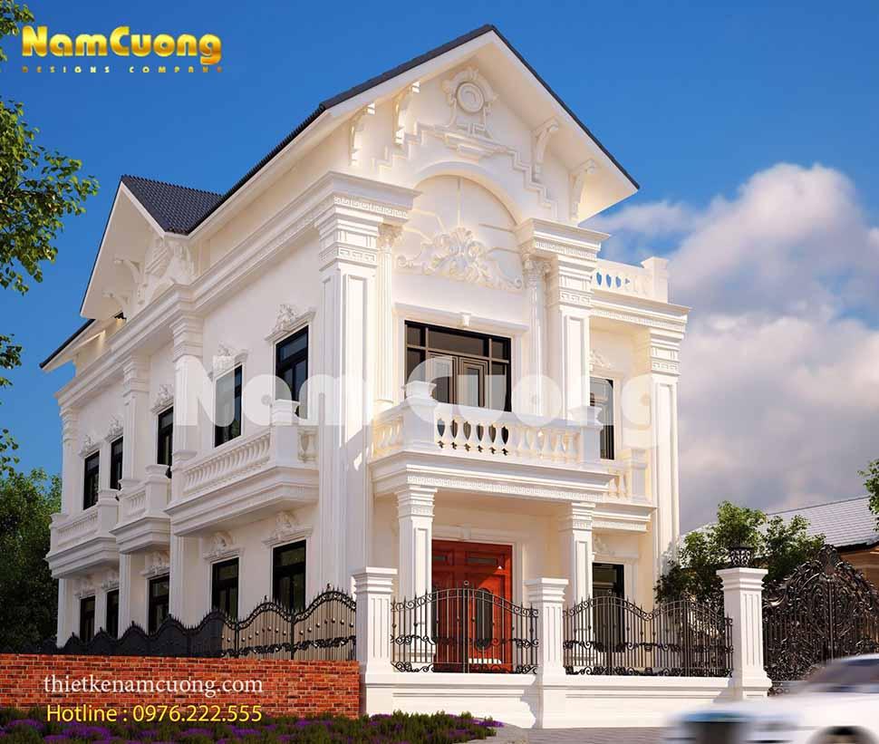 Mẫu thiết kế biệt thự 2 tầng mái Thái tại Sài Gòn