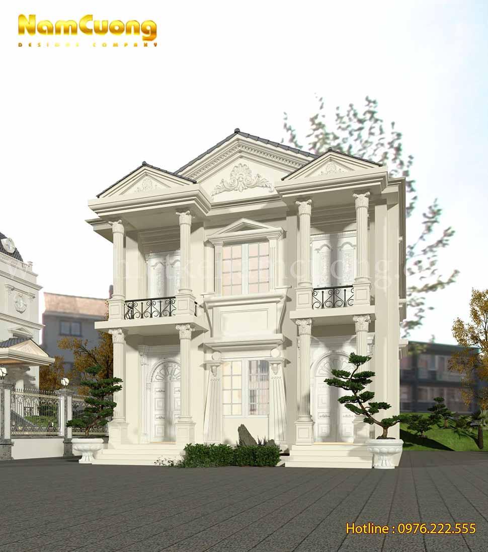 kiến trúc biệt thự 2 tầng cổ điển