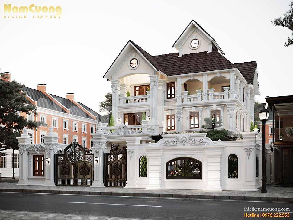 Biệt thự tân cổ điển kiểu Pháp ấn tượng và cuốn hút