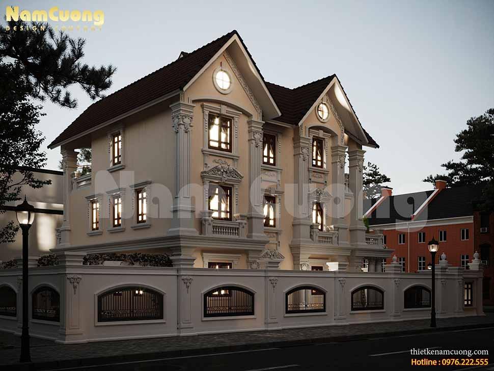 Mẫu thiết kế biệt thự tân cổ điển kiểu Pháp tại Phú Thọ