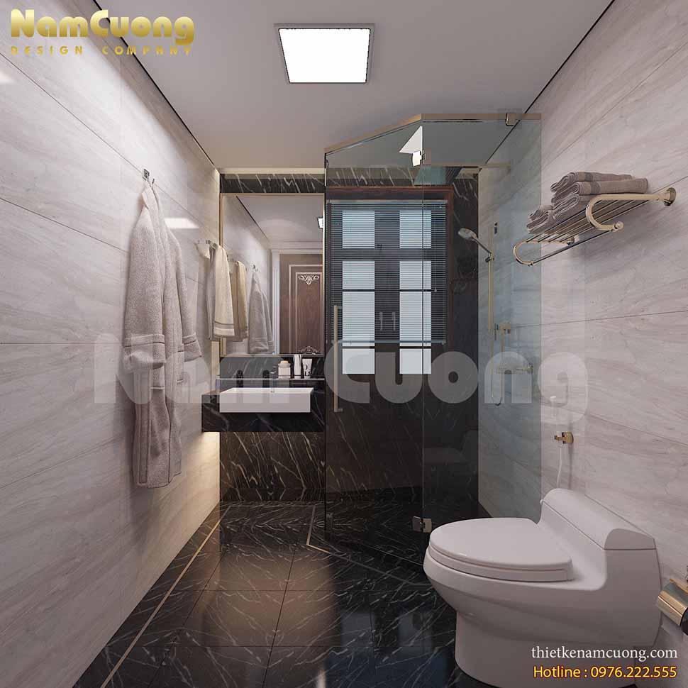 Thiết kế nội thất WC trong phòng ngủ 6