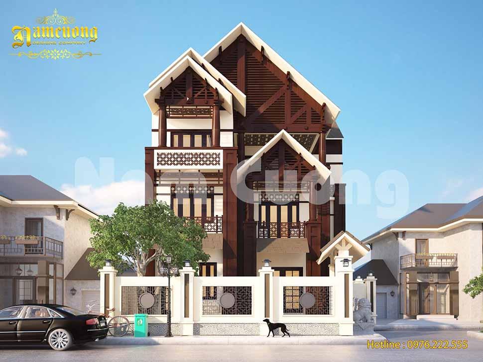 thiết kế biệt thự bằng gỗ đẹp