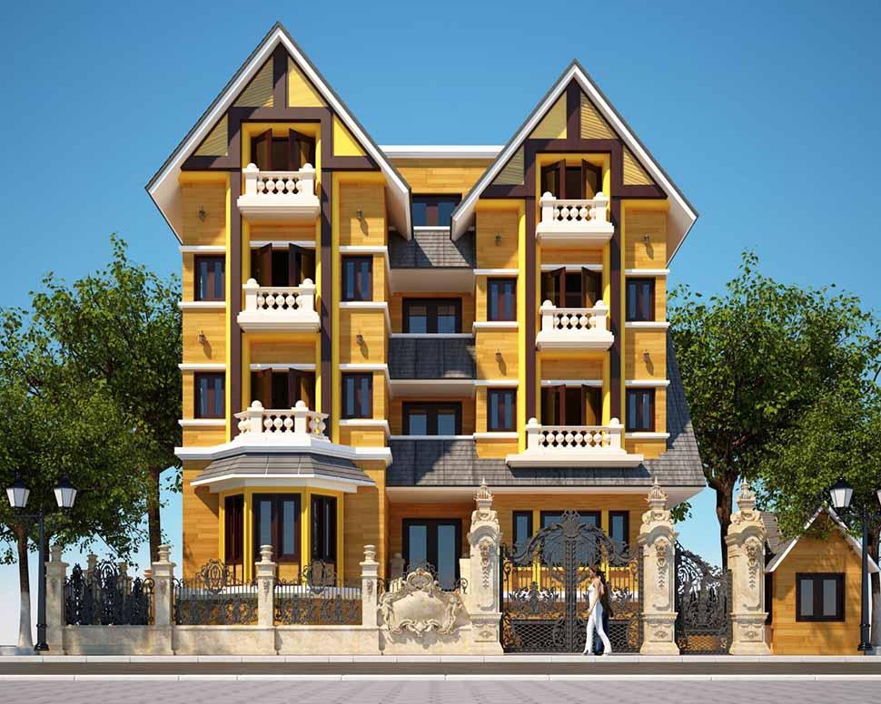 Kiến trúc kiểu mỹ mang phong cách mới lạ, sang trọng và hiện đại