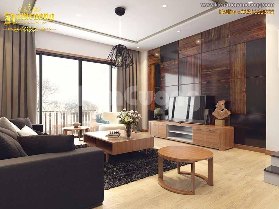 biệt thự hiện đại 3 tầng 120m2
