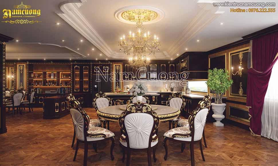 nội thất phòng bếp lâu đài 3 tầng 1 chỏm