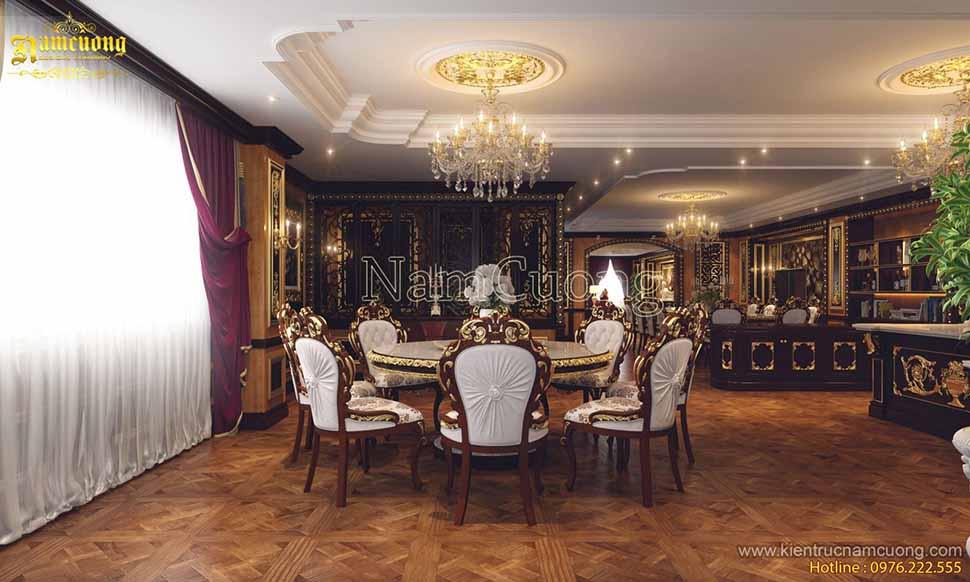 thiết kế phòng ăn lâu đài