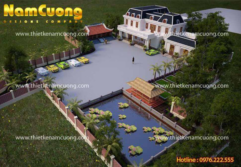 Mẫu biệt thự nhà vườn tân cổ điển tại Quảng Ninh - BTCD 10