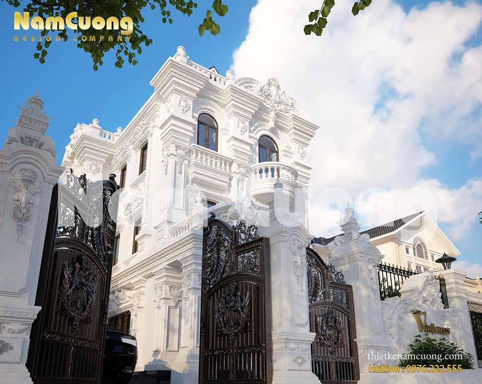 Kiến trúc biệt thự Pháp 3 tầng độc đáo tại Hà Nội