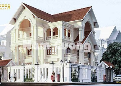 kiến trúc biệt thự tân cổ điển 2 mặt tiền