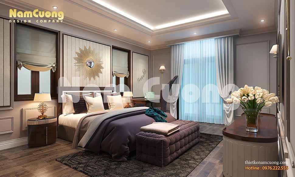 Phòng ngủ 2 ấm áp của ngôi biệt thự