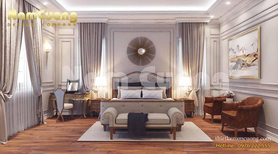Phòng ngủ 4 sang trọng và ấn tượng của ngôi biệt thự