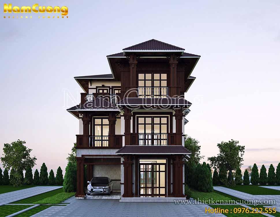 kiến trúc biệt thự 3 tầng