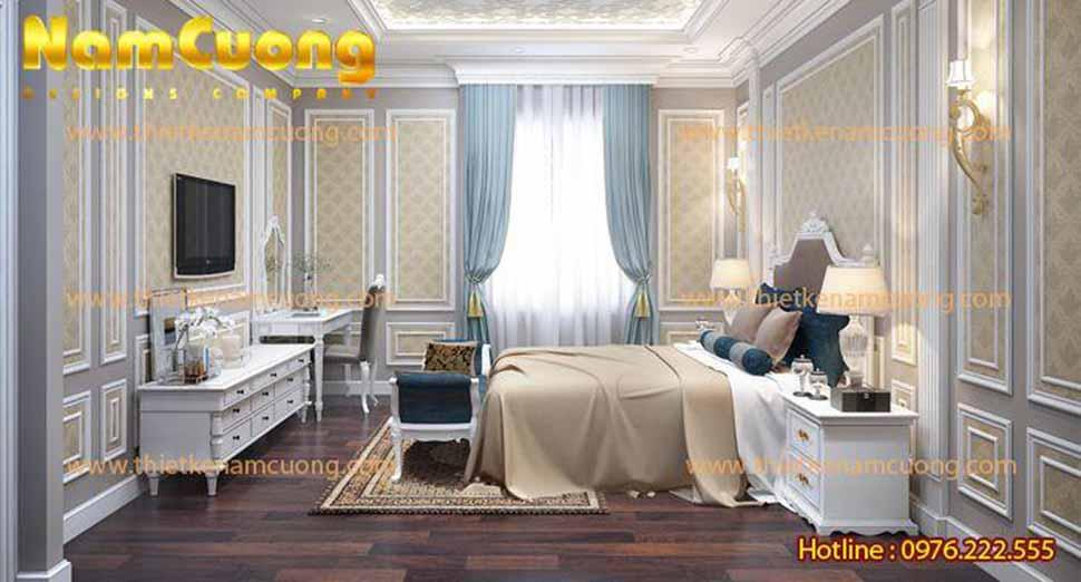 Cách bài trí nội thất đẹp mắt kết hợp gam màu ấm mang lại giấc ngủ ngon cho gia chủ