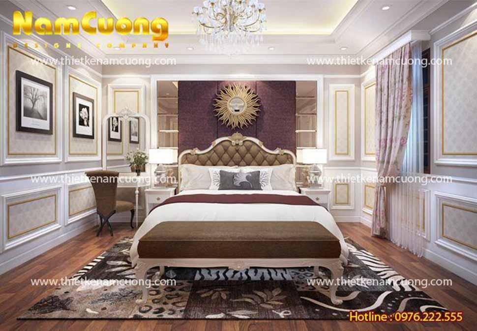 Phòng ngủ master vô cùng sang trọng, lịch lãm