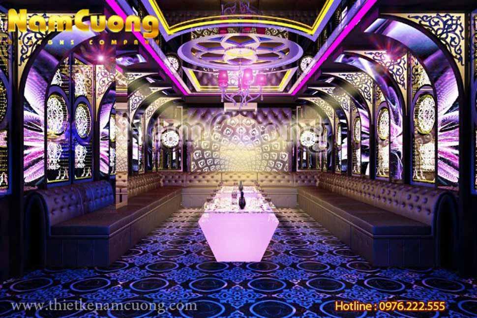 công trình thiết kế karaoke tân cổ điển Bảo Trang tại Quảng Ninh