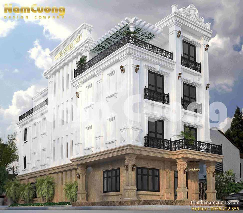 Mặt tiền khách sạn tân cổ điển Chung Thủy