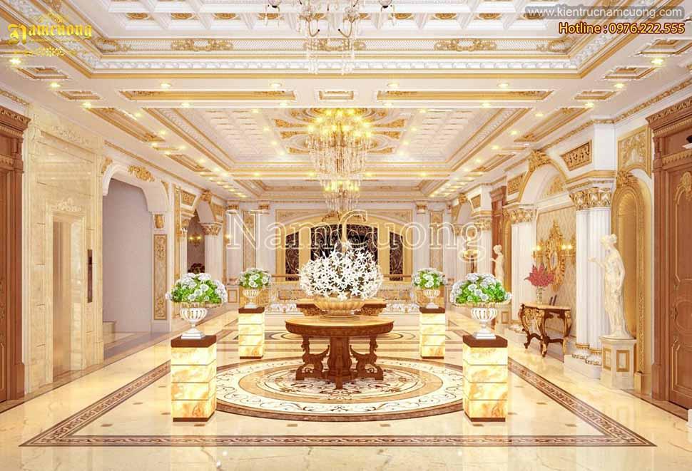 sảnh khách sạn lâu đài đẹp