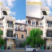 Kiến trúc khách sạn tân cổ điển 5 tầng tại Hải Phòng