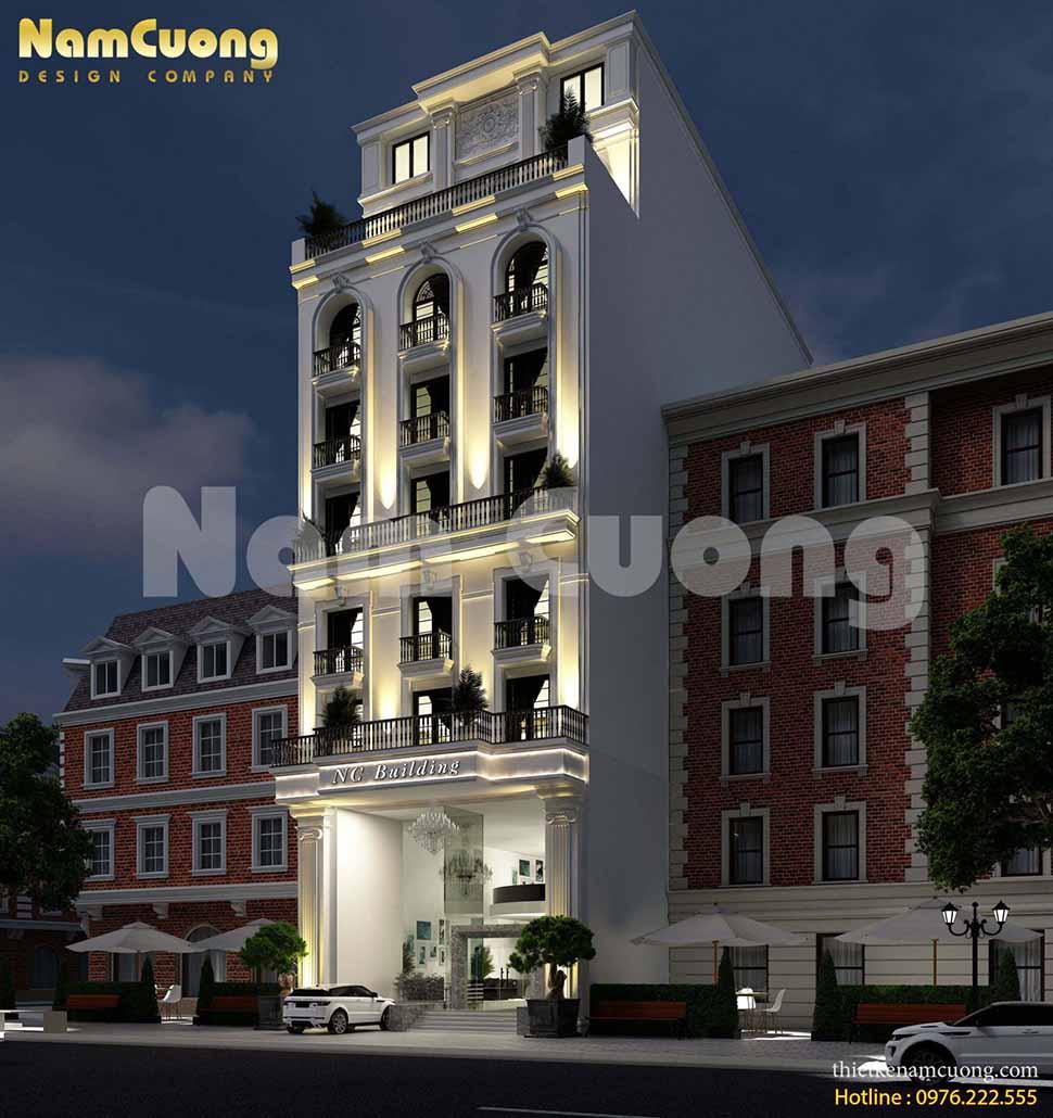 khách sạn tân cổ điển 9 tầng