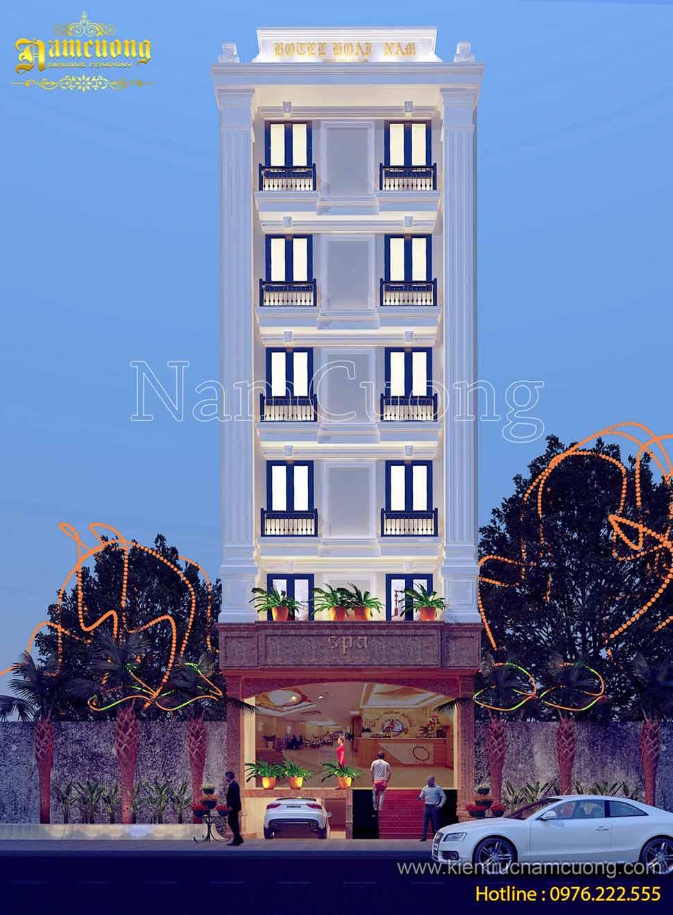 kiến trúc khách sạn tân cổ điển đầy quyến rũ