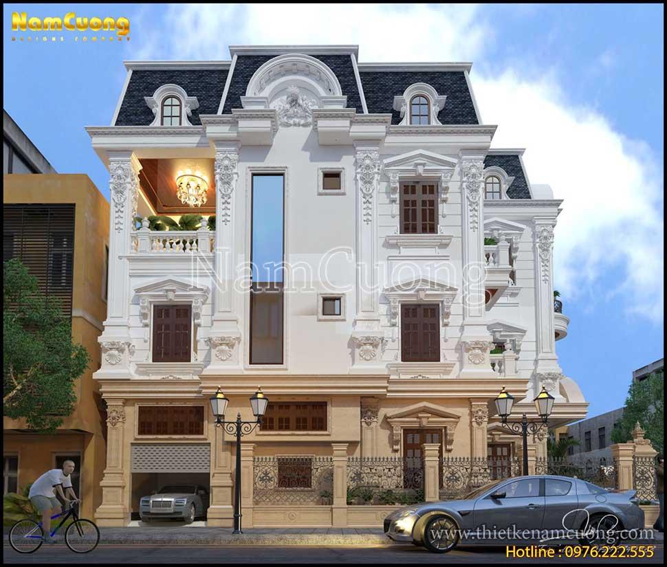 biệt thự 2 mặt tiền kiến trúc lâu đài pháp